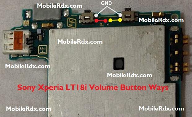 Sony Xperia LT18i Volume Button Ways Problem Jumper