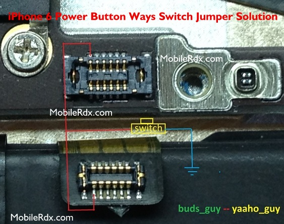 iPhone 6 Power Button Ways Switch Jumper Solution - iPhone 6 Power Button Ways Switch Jumper Solution
