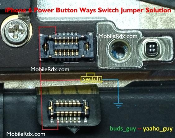 iPhone 6 Power Button Ways Switch Jumper Solution
