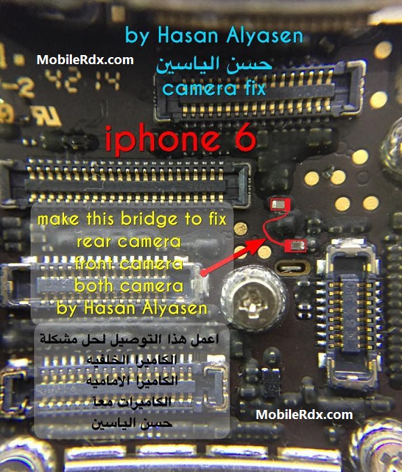 iphone back camera not working iphone 6s rear problem jumper solution mobilerdx 17618