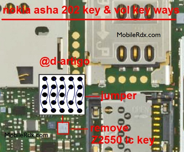Nokia Asha 202 Keypad Ic Jumper Solution Ways Problem Jumper