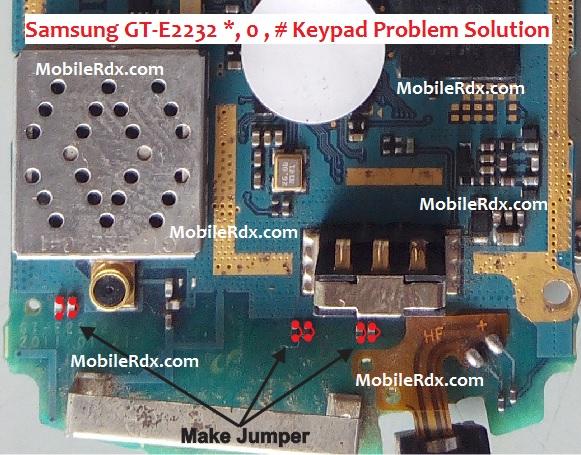 Samsung E2232 Keypad Problem Jumper Solution