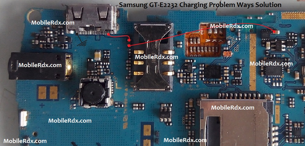 Samsung GT-E2232 Charging Problem Ways Solution Jumper