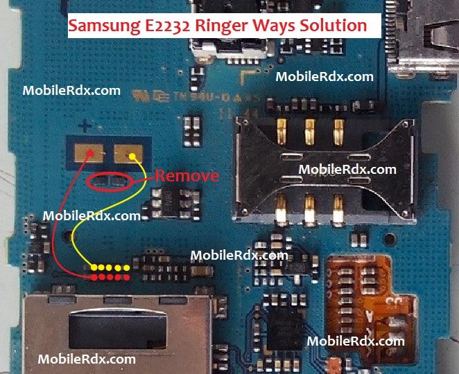 Samsung GT-E2232 Ringer Ways Solution Speaker Problem