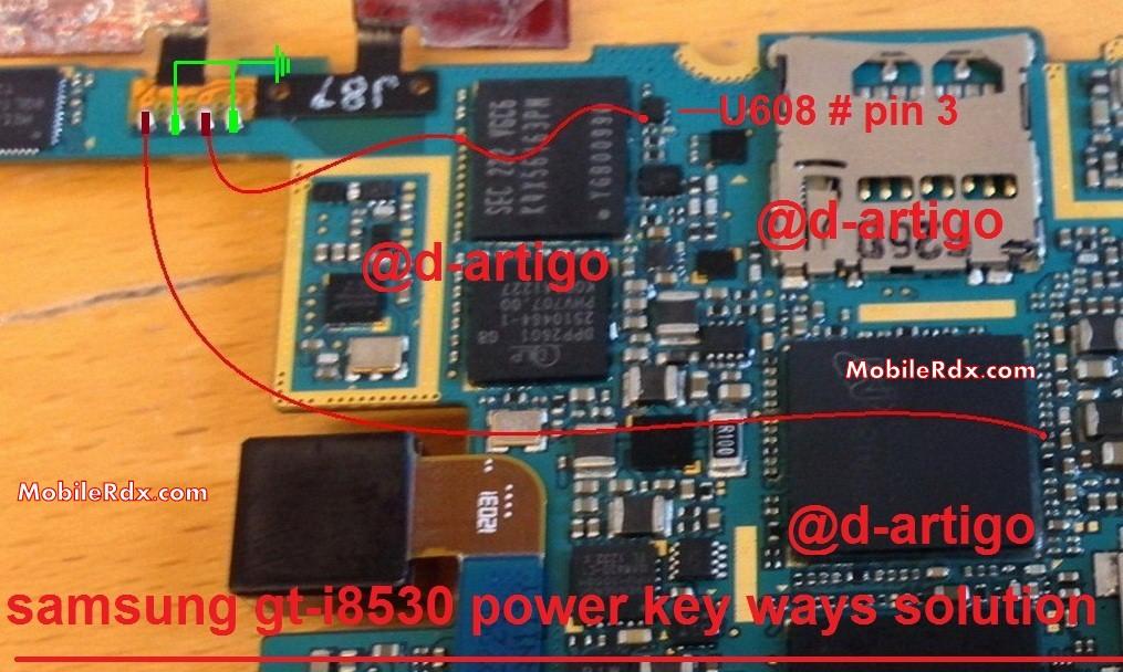 Samsung Galaxy Beam I8530 Power Key Ways Solution