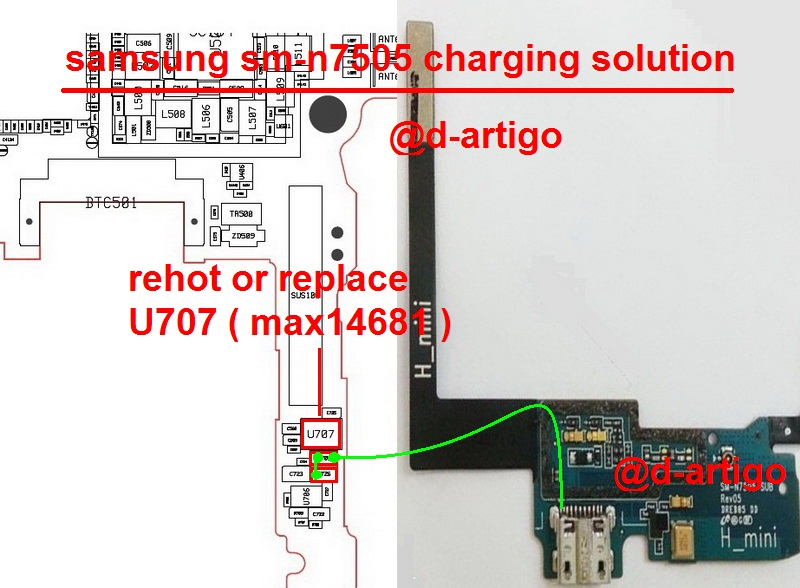 Samsung Galaxy Note 3 N7505 Charging Ways Solution