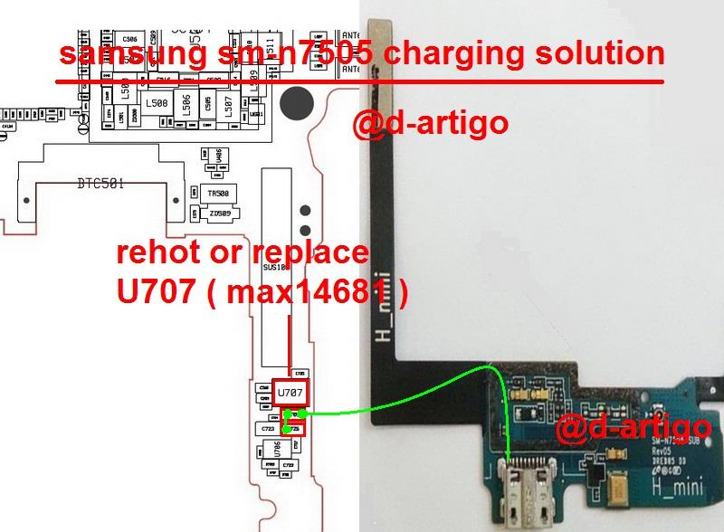 Samsung Galaxy Note 3 N7505 Charging Ways Solution
