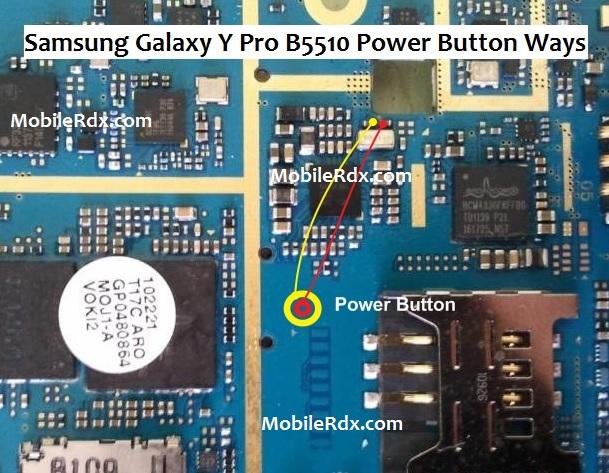 Samsung Galaxy Y Pro B5510 Power Button Ways