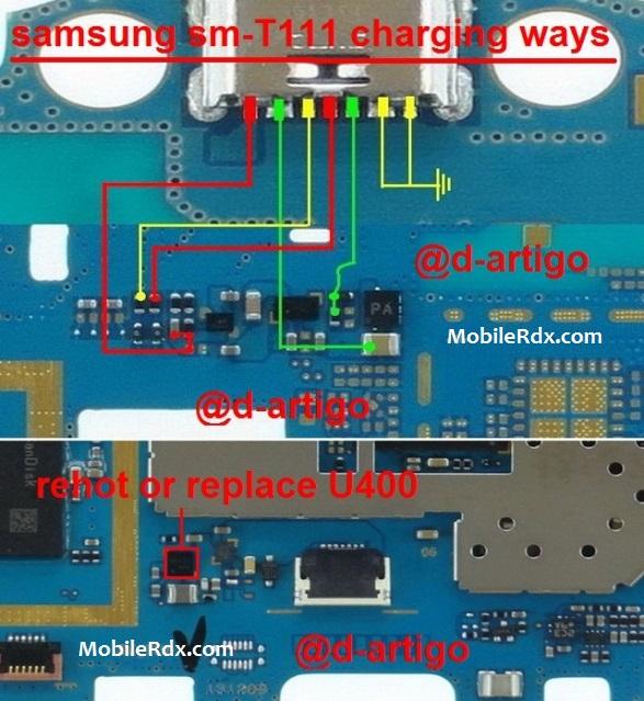 Samsung SM-T111 Charging Solution Ways Usb Jumper