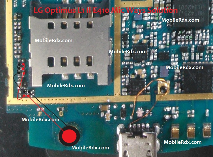 LG Optimus L1 II E410 Mic Ways Problem Solution Jumper
