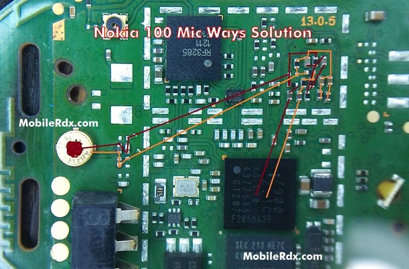 Nokia 100 Mic Ways Microphone Jumper Solution