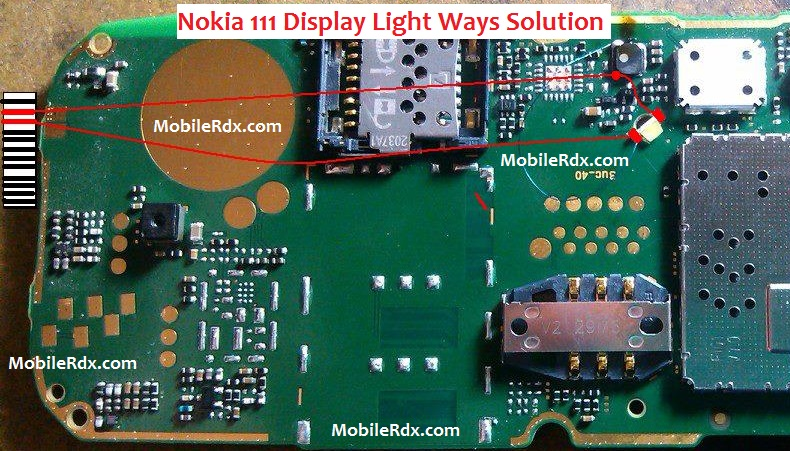 Nokia 111 Display Light Ways Lcd Jumper Solution