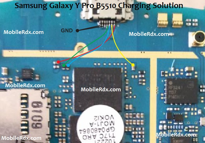 Samsung GT-B5510 Charging Ways With Usb Jumper Solution