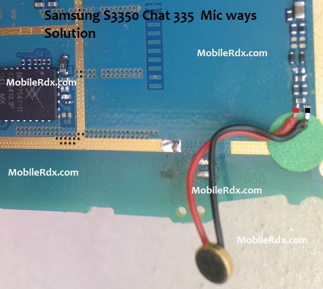 Samsung GT S3350 Mic Jumper Solution Ways