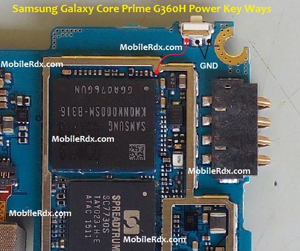 Samsung Galaxy Core Prime G360H Power Key Ways Solution Jumper - Samsung Galaxy Core Prime G360H Power Key Ways Solution