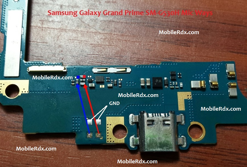 Samsung Galaxy Grand Prime G530H Mic Ways Solution Jumper