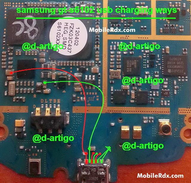 Samsung Galaxy Y Duos S6102 Charging Ways Usb Jumper Solution