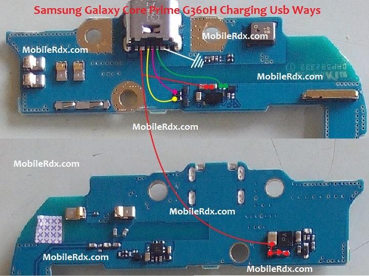 Samsung SM G360H Charging Ways Solution Usb Jumper