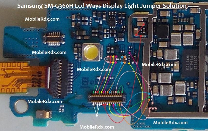 Samsung SM-G360H Lcd Ways Display Light Jumper Solution