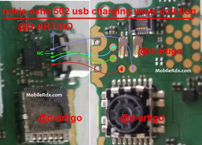 Nokia Asha 502 Charging Ways Usb Jumper Solution