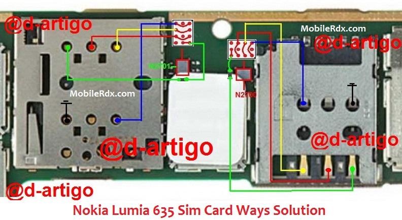 Nokia Lumia 635 Sim Card Ways Solution Ic Jumper
