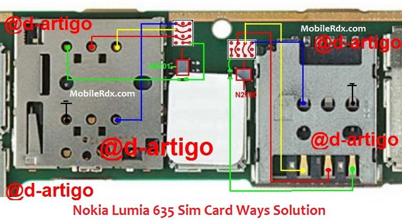 Nokia Lumia 635 Sim Card Ways Solution Ic Jumper - Nokia Lumia 635 Sim Card Ways Solution Ic Jumper