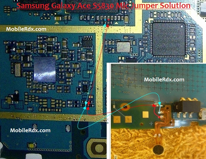 Samsung Galaxy Ace S5830 Microphone Ways Mic Jumper Solution - Samsung Galaxy Ace S5830 Microphone Ways Mic Jumper Solution