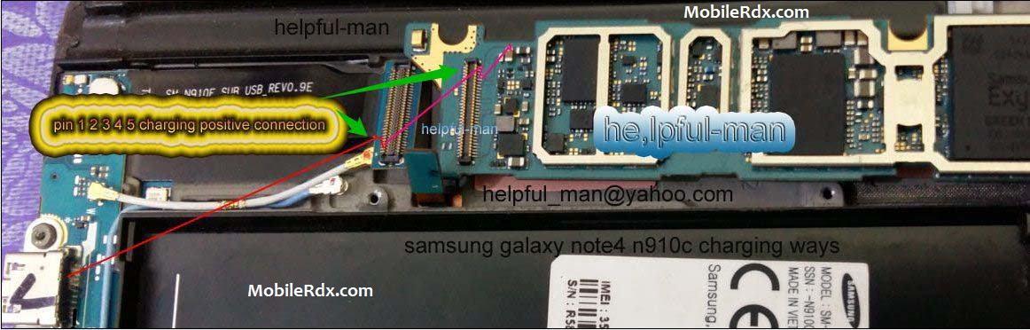 Samsung Galaxy Note 4 N910C Charging Ways Problem Solution