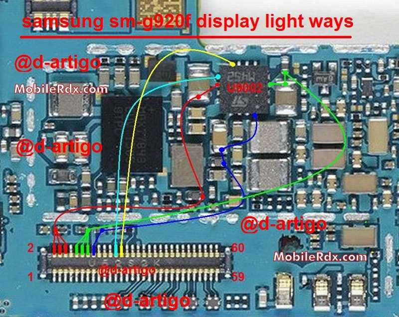 Samsung Galaxy S6 G920F Lcd Display Light Ways Solution Jumper