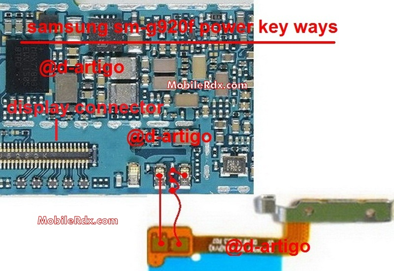 Samsung Galaxy S6 G920F Power Button Ways On Off Switch Jumper