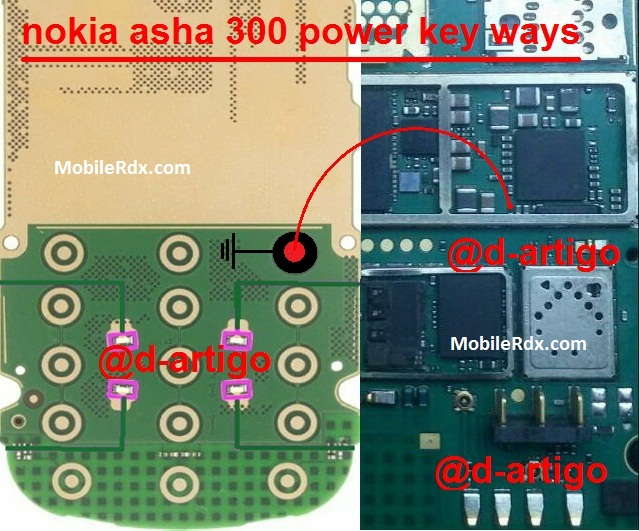 Nokia Asha 300 Power Key Jumper On Off Button Ways