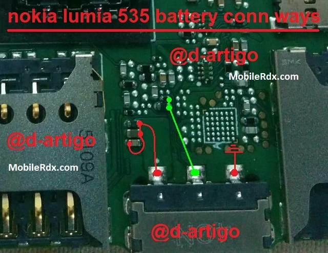 Nokia Lumia 535 Battery Connector Problem Jumper Solution - Nokia Lumia 535 Battery Connector Problem Jumper Solution