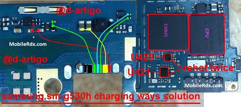 Samsung SM G530H Charging Solution Jumper Problem Ways