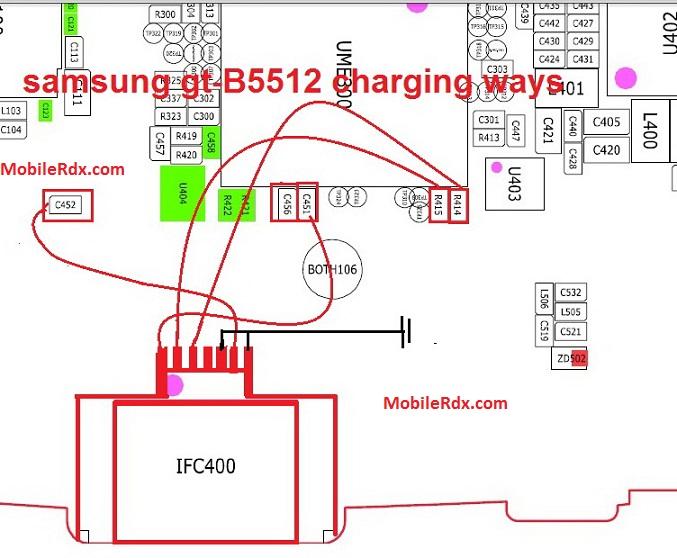 Samsung GT B5512 Charging Ways Solution Jumper