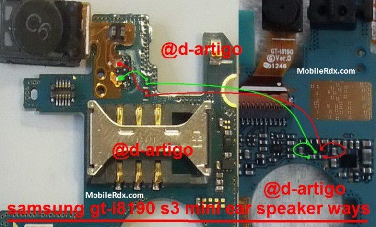 Samsung GT-I8190 Earpiece Speaker Problem Jumper Solution