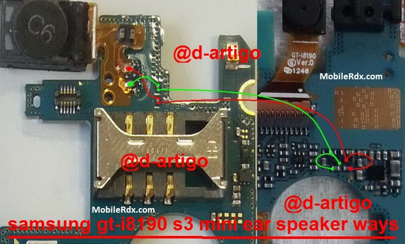 Samsung GT-I8190 Earpiece Speaker Problem Jumper Solution