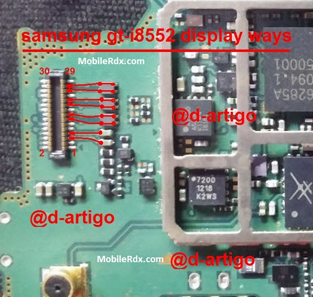Samsung GT I8552 LCD Connector Problem Ways Solution Jumper