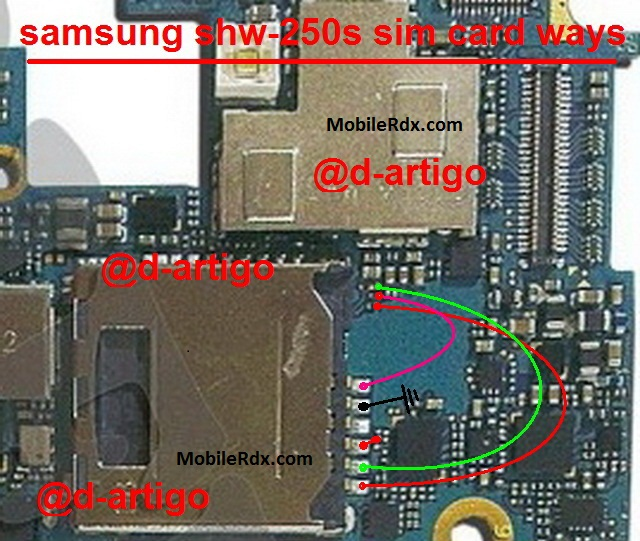 Samsung SHW-M250S Sim Card Problem Jumper Ways