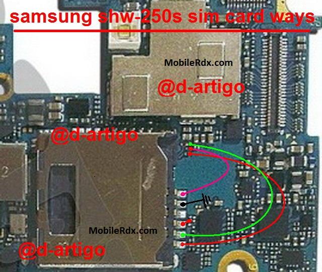 Samsung SHW M250S Sim Card Problem Jumper Ways