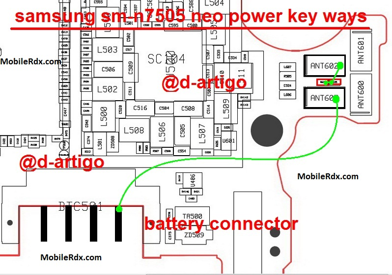Samsung Galaxy Note 3 N7505 Power Button Jumper Ways