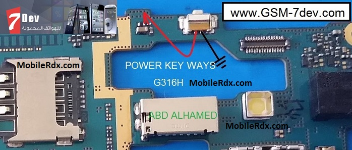 Samsung Galaxy S Duos 3 G316H Power Button Ways Jumper