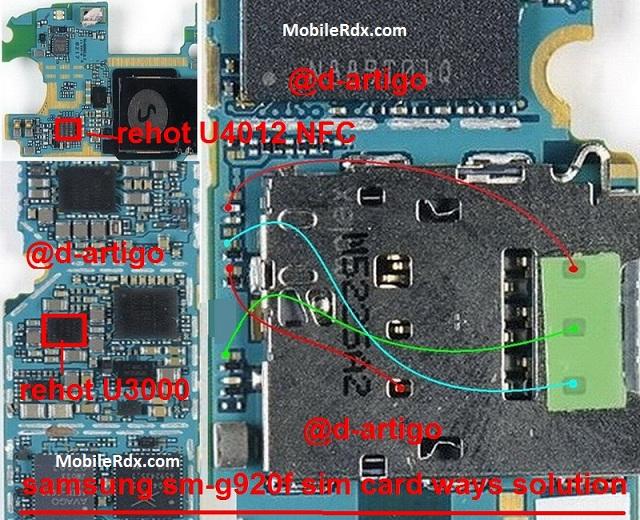 Samsung Galaxy S6 G920F Sim Card Ways Repair Solution Jumper