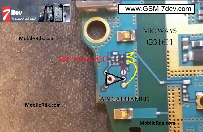 Samsung SM-G316H Microphone Solution Mic Ways Jumper