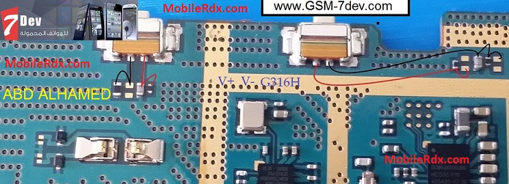 Samsung SM G316H Volume Keys Problem Jumper Ways Solution - Samsung SM-G316H Volume Keys Problem Jumper Ways Solution