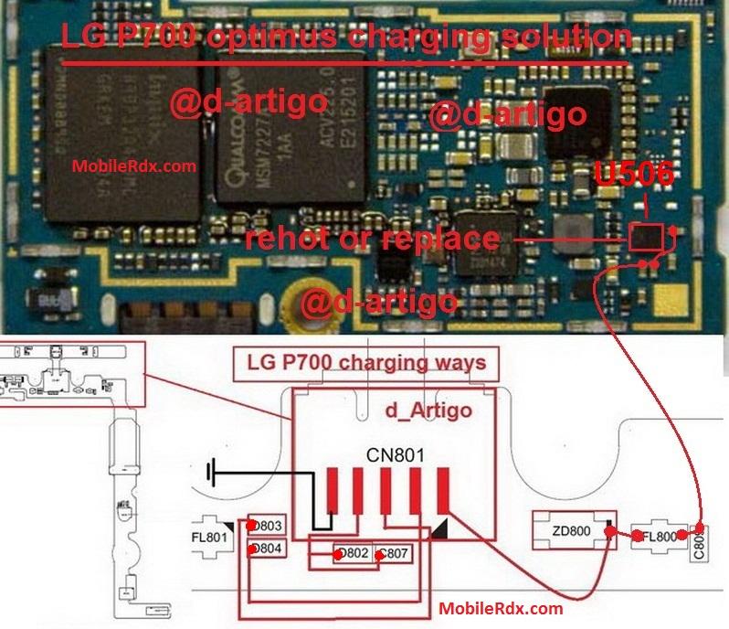LG Optimus L7 P700 Charging Problem Repair Solution Ways
