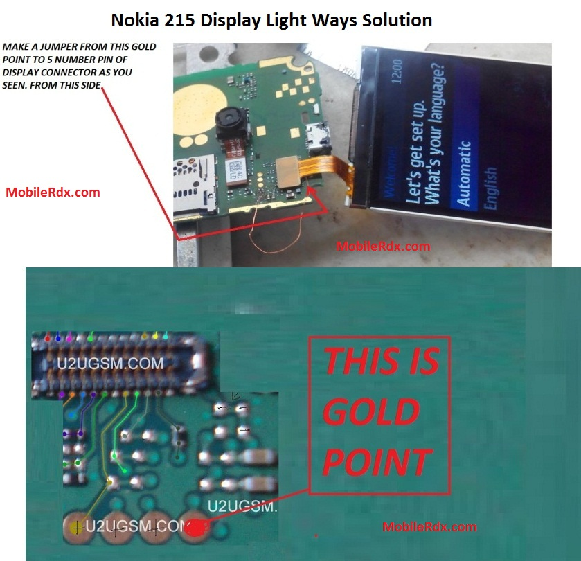 Nokia 215 Display Light Problem Jumper Solution