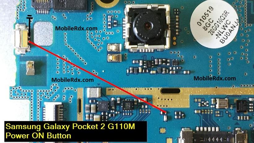 Samsung Galaxy Pocket 2 G110M Power Button Ways Solution Jumper - Samsung Galaxy Pocket 2 G110M Power Button Ways