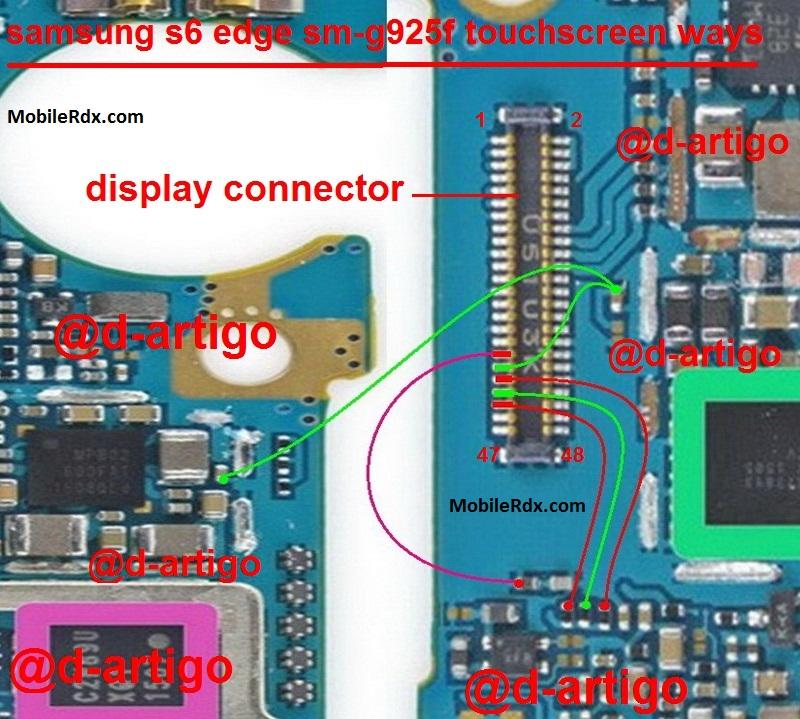 Samsung Galaxy S6 Edge G925F Touch Screen Ways Solution Jumper