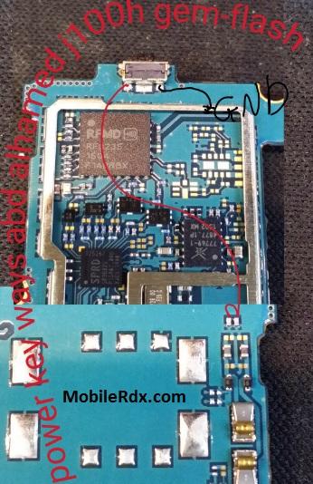 Samsung J1 J100H Power On Off Button Ways Jumper