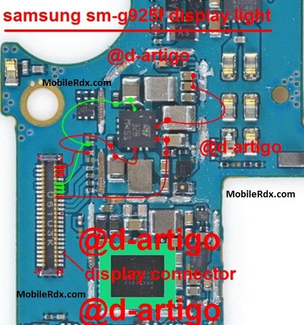 Samsung SM G925F Lcd Display Light Ways Problem Jumper - Samsung SM-G925F Lcd Display Light Ways Problem Jumper